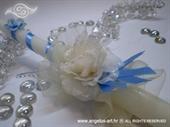 Svijeća za krštenje - Blue and Rose
