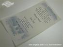 plavo srebrna pozivnica s pahuljama i perlicama tisak
