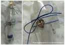 plavo srebrna pozivnica za krstenje sa srebrnim srcem