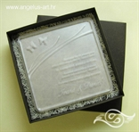 pleksi pozivnica za vjenčanje s leptirima i gravurom