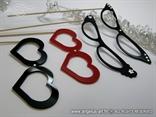 pleksi rekviziti za fotografiranje u obliku naocala s cirkonima
