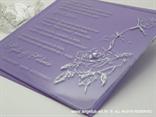 plexy pozivnica u ljubičastoj kuverti s ljubičastim cirkonom