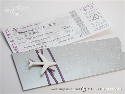 Silver & Lilac Boarding pass