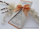 Wedding invitation - Lovely Peach Letter
