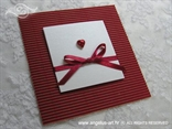 pozivnica crveno bijela sa srcem i mašnicom