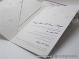 pozivnica iznutra s tiskom teksta i džepićem za kartončić s lijeve strane