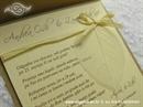 Pozivnica za vjenčanje Svijetlo drvo i list Classic