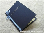 pozivnica putovnica plava s plavom mašnom