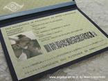 pozivnica putovnica sa školjkom iznutra