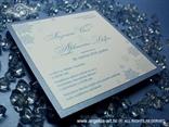 pozivnica s pahuljama plava perlasta zimska