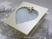 Pozivnica za vjenčanje - Sea Heart Shape