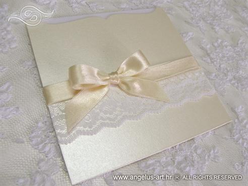 Cream Bow & Lace Charm