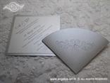 pozivnica srebrno bijela s 3D reljefnim srebrnim tiskom