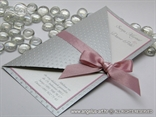 pozivnica srebrno ružičasta na rasklapanje