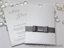 Pozivnica za vjenčanje - Silver Dove Charm