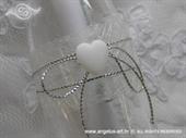 Pozivnica za vjenčanje Poruka u boci - Bijelo srce