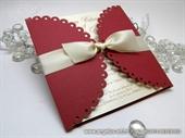 Pozivnica za vjenčanje - Red Lace Diva