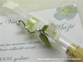 Pozivnica za vjenčanje Epruveta Bijela ruža