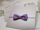 Pozivnica za vjenčanje - Purple Shine Charm