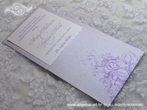 pozivnica u lila lavanda boji