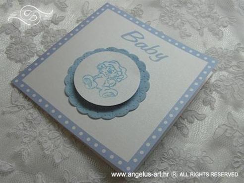 pozivnica za djecji rodendan s malim plavim medom