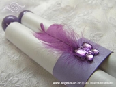 Invitation for baptism - Purple scroll