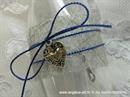 pozivnica za krstenje u staklenoj boci sa srebrnim srcem