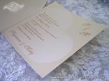 pozivnica za vjenčani u obliku srca krem boje
