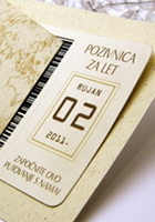 Airline ticket as a wedding invitation