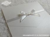 Pozivnica za vjenčanje Bijela mašna Classic