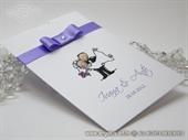 Pozivnica za vjenčanje Happy Lilac Charm Plus