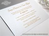 pozivnica za vjenčanje bijela s tiskom teksta unutra