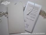 pozivnica za vjenčanje boje leda s tiskom i perlicama