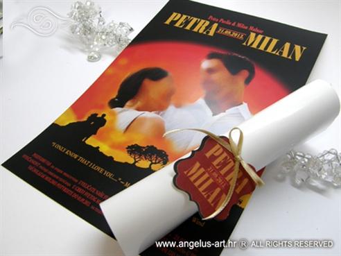 pozivnica za vjencanje kao plakat za film zameo ih vjetar 6554