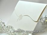 pozivnica za vjenčanje kuverta za pozivnicu s bijelom ružom