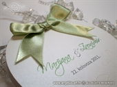 Pozivnica za vjenčanje Round Joy Zelena