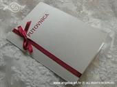 Pozivnica za vjenčanje Crvena putovnica