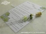 pozivnica za vjenčanje s čipkom i bijelom ružom