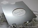 Pozivnica za vjenčanje - Silver Frame Charm