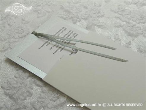 pozivnica za vjenčanje srebrna na izvlačenje
