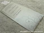 pozivnica za vjenčanje srebrna s cirkonom i grafikom