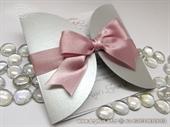 Pozivnica za vjenčanje Silver Pink Diva