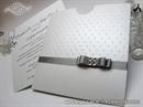 Bijela pozivnica za vjenčanje Crystal Dots Charm