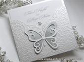 Pozivnica za vjenčanje - White Butterfly Charm