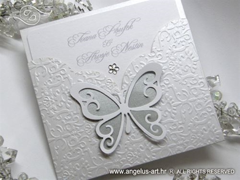 White Butterfly Charm