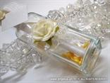 pozivnica za vjenčanje u boci s bijelom ružom
