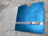 Pozivnica za vjenčanje - Turquoise Bow Charm