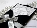 Pozivnica za vjenčanje CRNA Black Damask Beauty