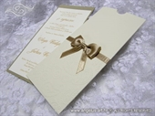 Pozivnica za vjenčanje - Golden Bow Charm