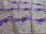 pozivnice za vjenčanje ljubičaste s brošem od perlica